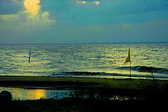 Vergenoegen_seawall sunset