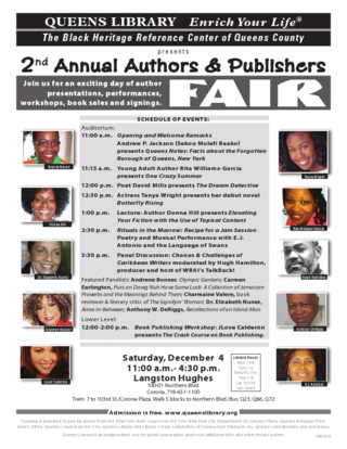 Queens library_second annual authors and publishers fair